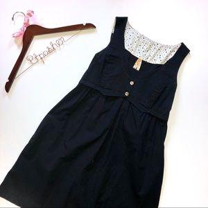 Anthropologie Maeve Little Black Vest Dress